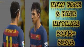 getlinkyoutube.com-New Face & Hair-Neymar J.r-2015-2016-Pes 2013 Pc