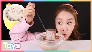 getlinkyoutube.com-캐리의 구데타마 라떼 아트 만들기 놀이 CarrieAndToys