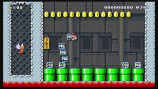 getlinkyoutube.com-Super Mario Maker (WiiU) - Bowser's Puzzle Dungeon BLINDRUN [clearrate 0,86%] - 1080p@60fps