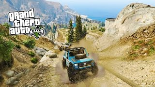 GTA 5 OFF ROADING!!! GTA 4x4 OFFROADING w/ CUSTOM TRUCKS! (Grand Theft Auto 5 PS4 Gameplay)