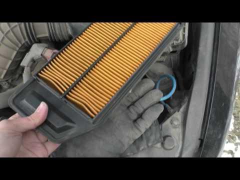 Замена воздушного фильтра Honda Accord 7