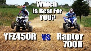 getlinkyoutube.com-Yamaha Raptor 700R vs YFZ450R Shootout. Which is Best for You?