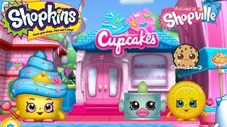 Play Welcome To Shopville Shopkins App Game Cupcake Baking Limited Edition Cupcake Queen + More