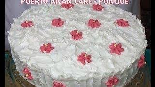 getlinkyoutube.com-Puerto Rican Cake - Bizcocho - Ponque