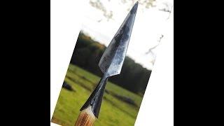 getlinkyoutube.com-How to forge a spear   Speer schmieden