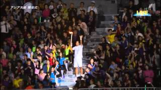getlinkyoutube.com-Lee Young-ae the opening ceremony for the 17th Asian Games in Incheon, South Korea