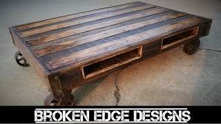 getlinkyoutube.com-Pallet Wood Coffee Table