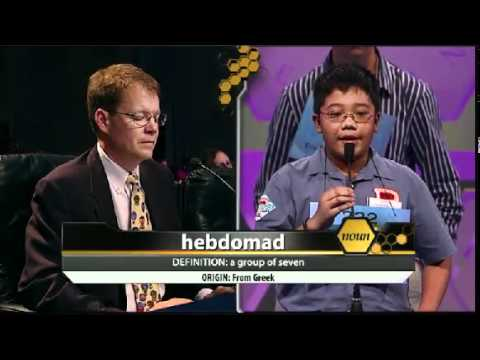 Jacob Evers - 2012 Scripps National Spelling Bee - Preliminaries - 2