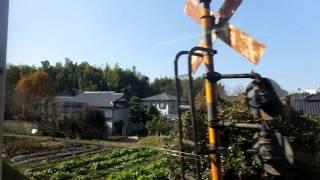 getlinkyoutube.com-熊本電気鉄道6000形 側面展望 御代志→北熊本(藤崎線普通) 6221ef編成