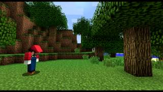 getlinkyoutube.com-If Video Games Were In Minecraft (ItsJerryAndHarry)