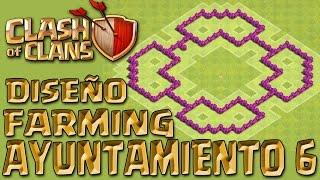 getlinkyoutube.com-TH6 FARMING | DISEÑO DE ALDEA | AYUNTAMIENTO 6 | Clash Of Clans.