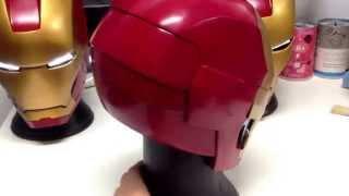 getlinkyoutube.com-Eric0101 finished Ironman MK3 MK42 Helmet (LED Installed)