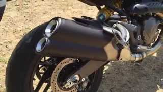 getlinkyoutube.com-Ducati Monster 821 stock exhaust sound