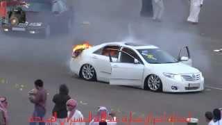 getlinkyoutube.com-لحظة أحتراق سيارة عبدالله العسيري المعدلة 1434/8/22 ببللسمر