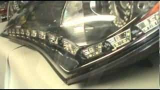 getlinkyoutube.com-Hyundai Genesis Coupe Switchback Angel Eyes and LED Audi Strip Headlights