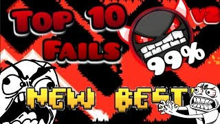 getlinkyoutube.com-Top 10 Most Stupid Fails Ever In Insane Demons #2 [GEOMETRY DASH]