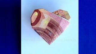 getlinkyoutube.com-Geldschein falten Herz - Geldgeschenke basteln zur Hochzeit - Origami