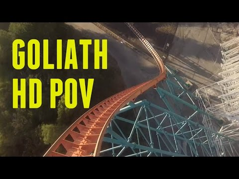 Goliath (Front Seat HD POV) - Six Flags Magic Mountain