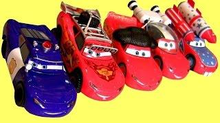 getlinkyoutube.com-Cars McQueen-O-Rama 2015 Diecast Collection 5-Pack DisneyStore Detective Rally Disney Pixar