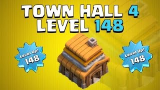 getlinkyoutube.com-HIGHEST LEVEL TOWN HALL 4 IN CLASH OF CLANS! | Level 148 Town Hall 4!