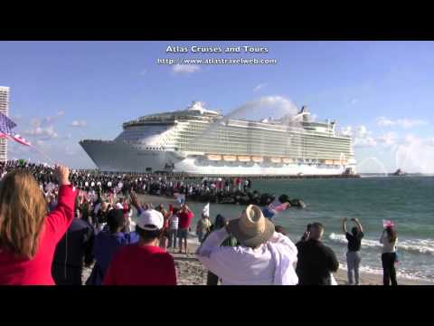 Allure of the Seas Cruise Ship Video Royal Caribbean arrival in Port Everglades