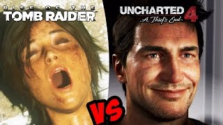 getlinkyoutube.com-Uncharted 4: A Thief's End VS Rise Of The Tomb Raider