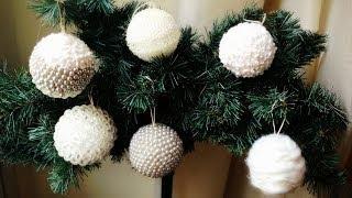 getlinkyoutube.com-D.I.Y. hand made christmas decorations ❄ Palline di Natale decorate fai da te