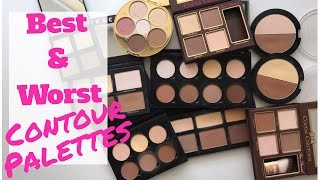 getlinkyoutube.com-Best and Worst of the Contour Palettes! My High End and Drugstore Contour Palette Collection