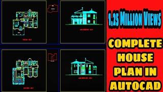 getlinkyoutube.com-Complete HOUSE PLAN in AutoCAD 2D! -AutoCAD Tutorial !