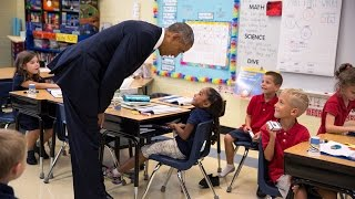flushyoutube.com-President Obama Talks with First-Graders at Tinker Elementary School