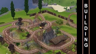 getlinkyoutube.com-The Sims 3 - Roller Coaster Building - Haunted Hill -