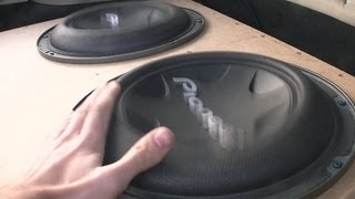 getlinkyoutube.com-x2 Pioneer TS-W3004SPL GETTING LOUD!! 142db+ subwoofers