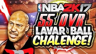 55 OVR LAVAR BALL GLASS CLEANER CHALLENGE | EXPOSING RACIST YOUTUBER - NBA 2K17 MY PARK