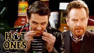 getlinkyoutube.com-James Franco and Bryan Cranston Bond Over Spicy Wings | Hot Ones