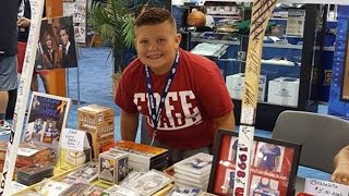 getlinkyoutube.com-10-Year-Old Boy Sells Baseball Card Collection To Help Friends Battling Cancer