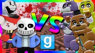 getlinkyoutube.com-UNDERTALE VS FIVE NIGHTS AT FREDDY'S | Gmod Murder Maze Challenge (Sans, Papyrus, Fnaf Animatronics)