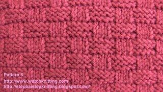 getlinkyoutube.com-(Basket) - Simple Patterns - Free Knitting Patterns Tutorial - Watch Knitting - pattern 8