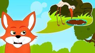 getlinkyoutube.com-The Fox and the Stork - Aesop's fables