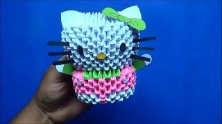 getlinkyoutube.com-Origami 3D Hello kitty