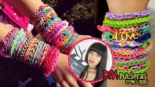 getlinkyoutube.com-DIY: Pulseras con ligas | Akari Beauty