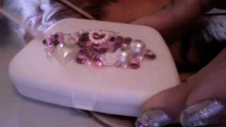 getlinkyoutube.com-☆ Hime Deco ☆ rhinestone case ☆