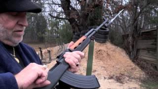 getlinkyoutube.com-Shooting Norinco SKS With AK-47 Mag & Folding Stock