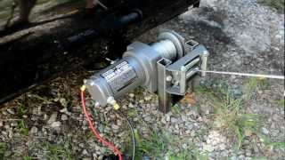 getlinkyoutube.com-Mounting a HF 2000lb ATV Winch to Trailer Hitch