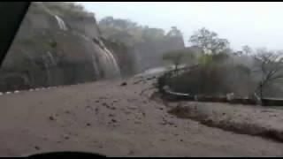 Devastating landslide and flood  in India, SHillong to Guwahati road,