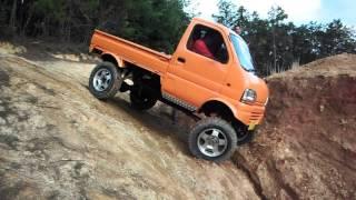 getlinkyoutube.com-リフトアップ軽トラ クロカン 奈良トラ Japanese Mini Truck Off road suzuki
