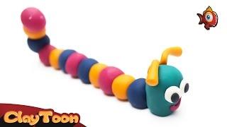 Funny Worm - Polymer clay tutorial | دودة ظريفة - تشكيل صلصال للأطفال
