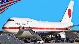 getlinkyoutube.com-政府専用機のアンドルーズ空軍基地着陸ノーカット映像・安倍首相訪米 (2016/03/30) - Japanese Air Force One US Visit - Joint Base Andrews