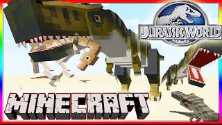 getlinkyoutube.com-Minecraft 1.8 Jurassic World Mod Showcase! Dinosaurs, Raptor Attacks & More!