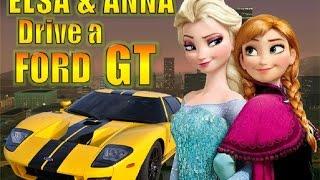getlinkyoutube.com-Elsa & Anna driving a Ford GT - GTA SA (Mod Frozen)