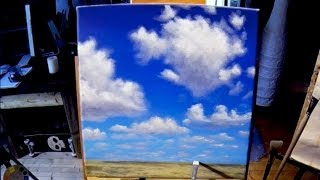 getlinkyoutube.com-Free Acrylic Painting Lesson In Real Time - Painting Simple Clouds